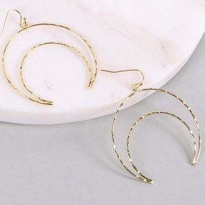 ❗️Coming Soon❗️ Gold Moon Earrings